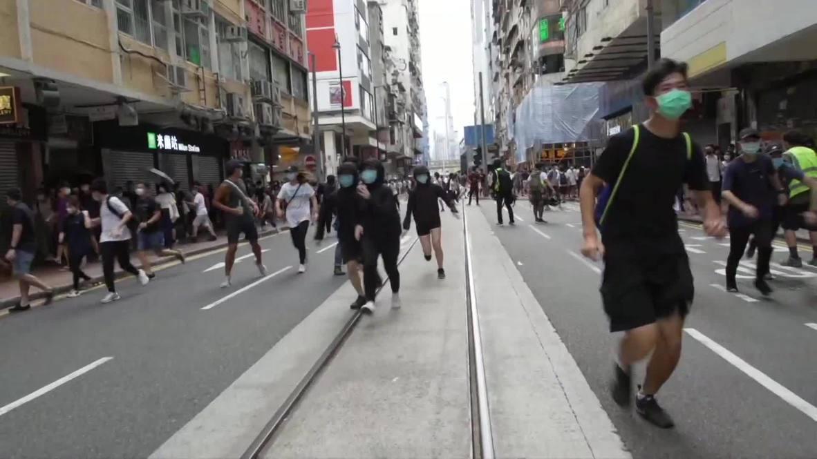 Hong Kong: Enfrentamientos y arrestos en una protesta tras la aprobación de la nueva Ley de Seguridad