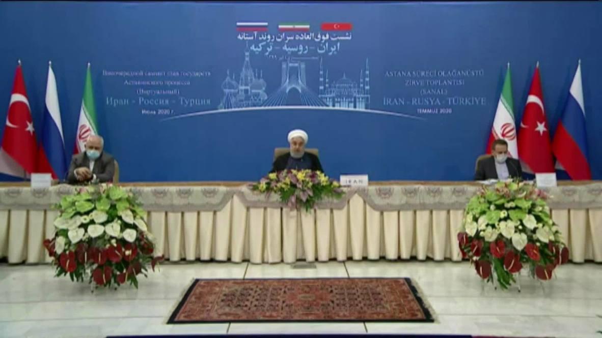 """إيران: روحاني يشجب الولايات المتحدة باعتبارها """"عاملاً مزعزعاً للاستقرار في سوريا والمنطقة بأسرها"""""""