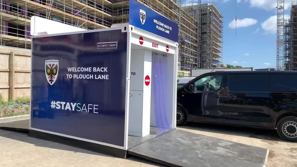 Reino Unido: Instalan cabinas desinfectantes en los estadios para el regreso a los eventos deportivos