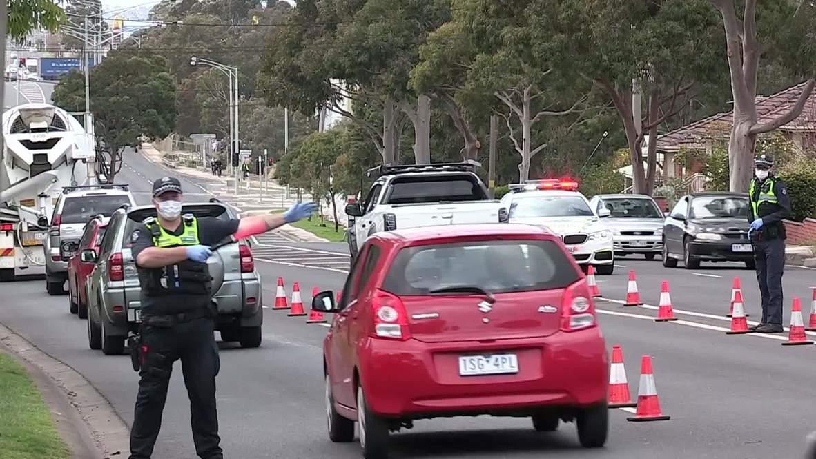 Australia: Imponen cuatro semanas de confinamiento en 10 zonas de Melbourne tras rebrote de covid