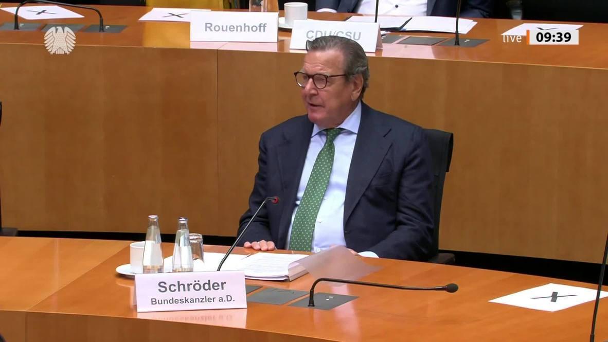 """ألمانيا: شرودر يدين عقوبات """"السيل الشمالي"""" الأمريكية ويدعو إلى فرض عقوبات مضادة"""