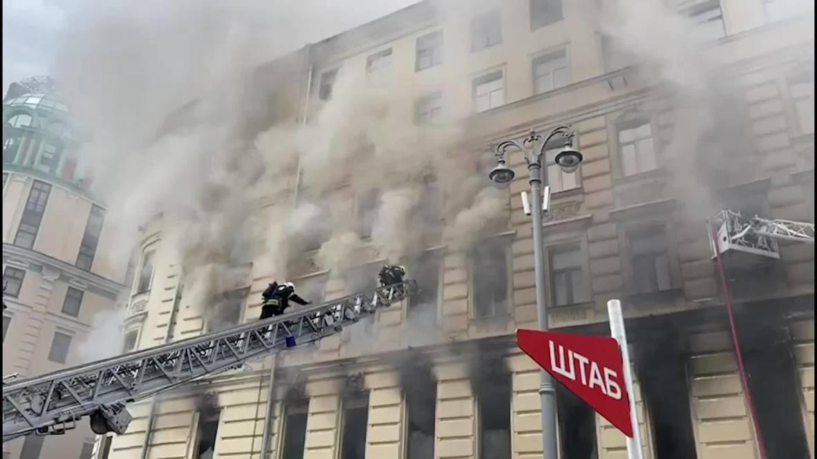 Россия: Пожар площадью 300 квадратных метров локализован в здании на Тверской улице в Москве
