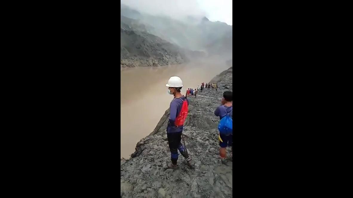 Myanmar: Desprendimiento de tierra en una mina de jade deja al menos 160 muertos