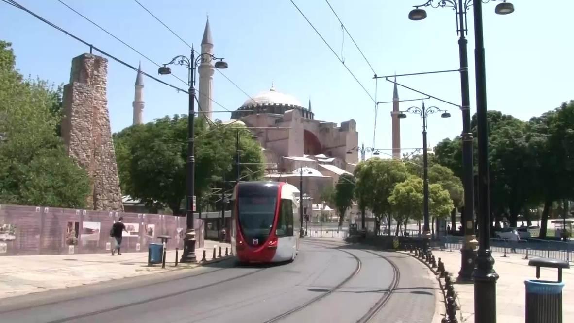 تركيا: ردود فعل سكان إسطنبول على تأخير تحويل آيا صوفيا إلى مسجد