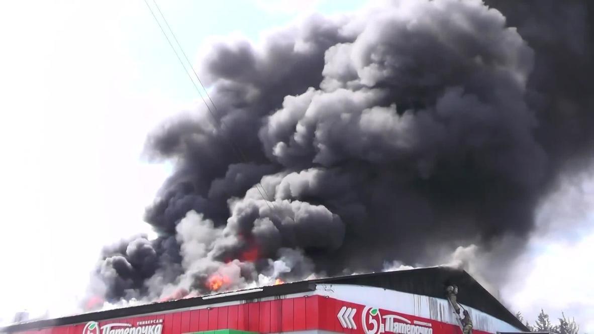 Россия: Пожарные ликвидировали возгорание в магазине Челябинской области