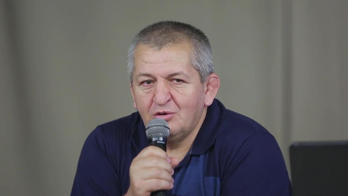 """روسيا: وفاة والد المقاتل حبيب نورمحمدوف بطل منظمة """"UFC"""" متأثرا بإصابته بكورونا *أرشيف*"""