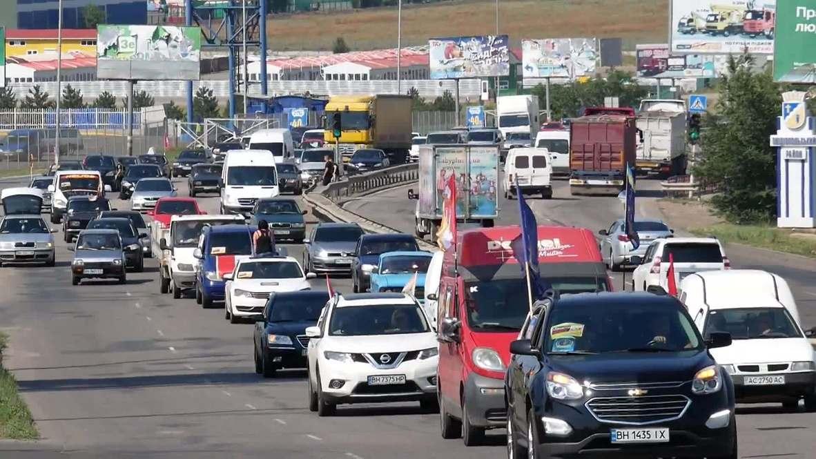 Украина: В Одессе прошел автопробег против закрытия города на карантин