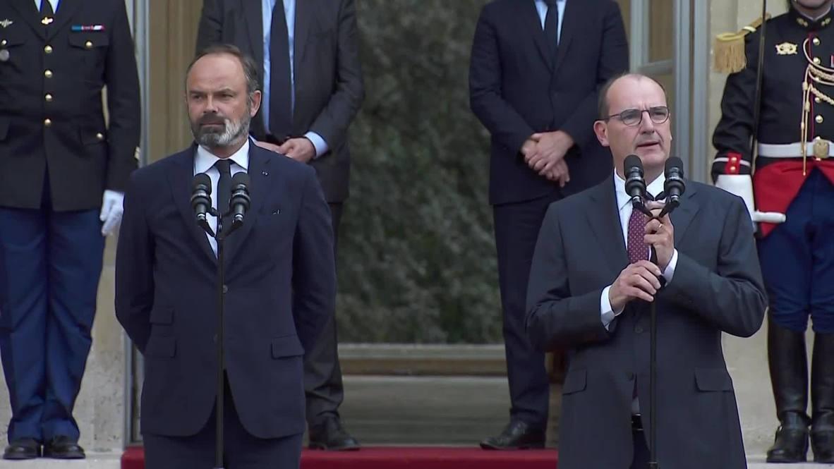 Francia: Jean Castex se convierte en el nuevo primer ministro francés en ceremonia de traspaso de poderes