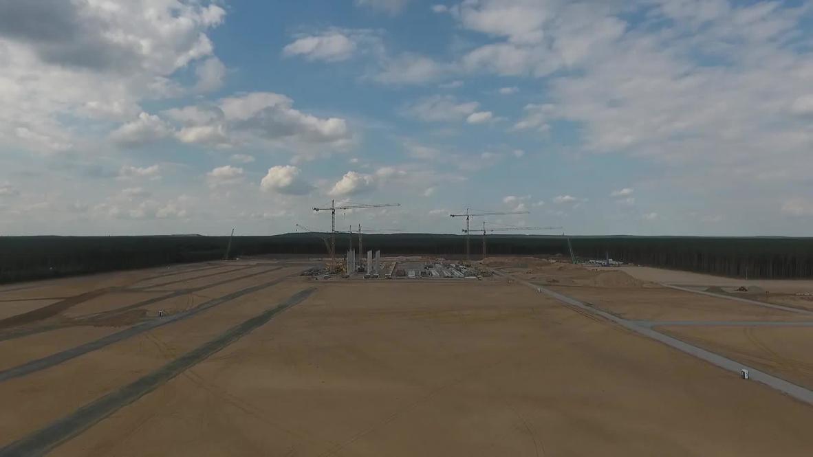 Germany: Tesla Gigafactory construction continues in Grueneheide