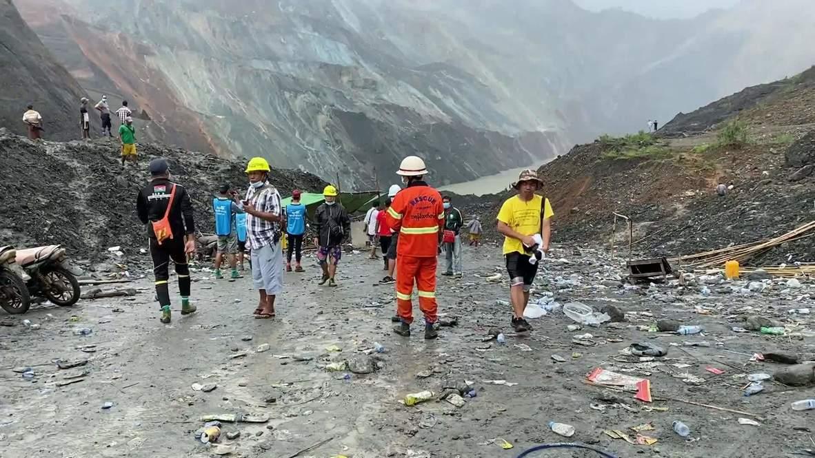 Myanmar: At least 160 killed after landslide strikes jade mining site
