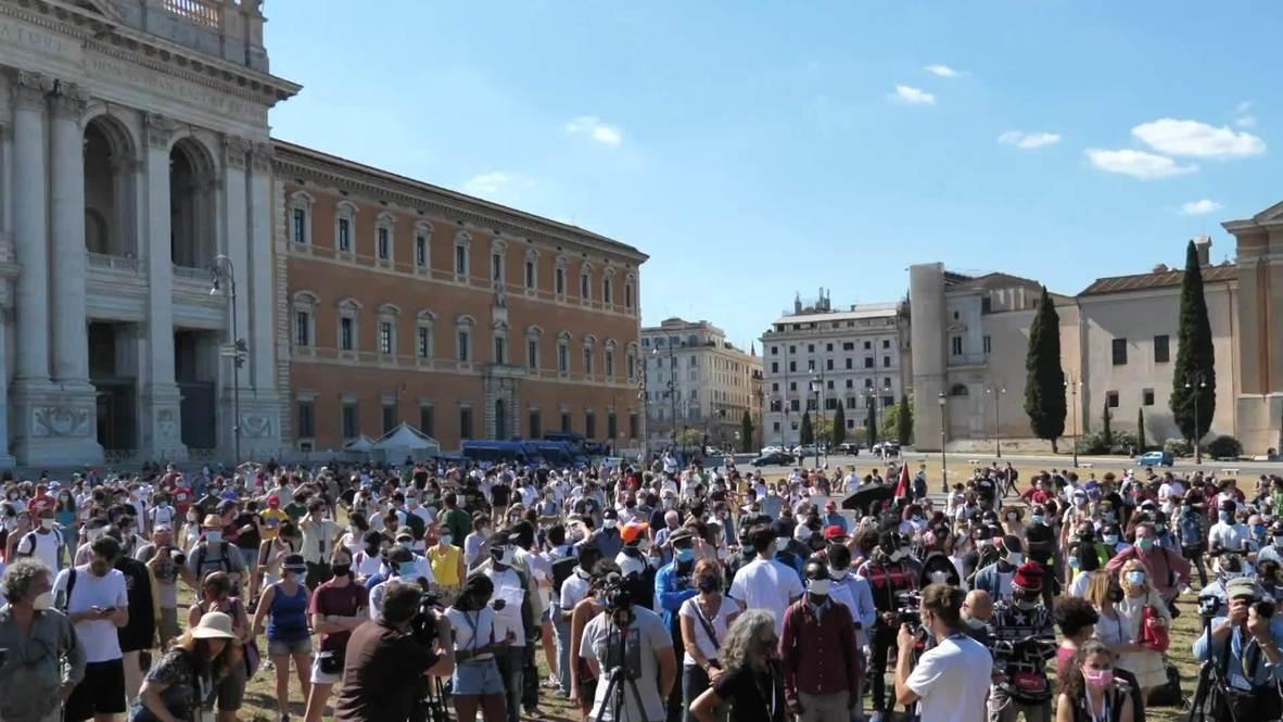 Italia: Trabajadores migrantes protestan en Roma pidiendo mejores condiciones laborales