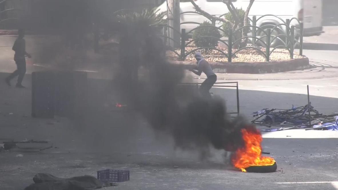 Palestina: Manifestantes y fuerzas israelíes se enfrentan en Hebrón