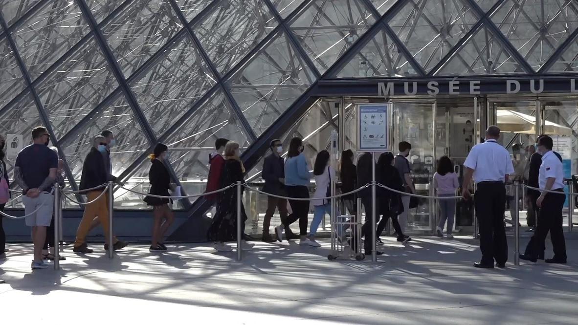 فرنسا: متحف اللوفر يعيد فتح أبوابه أمام الزوار بعد إغلاقه لشهور بسبب تفشي كورونا