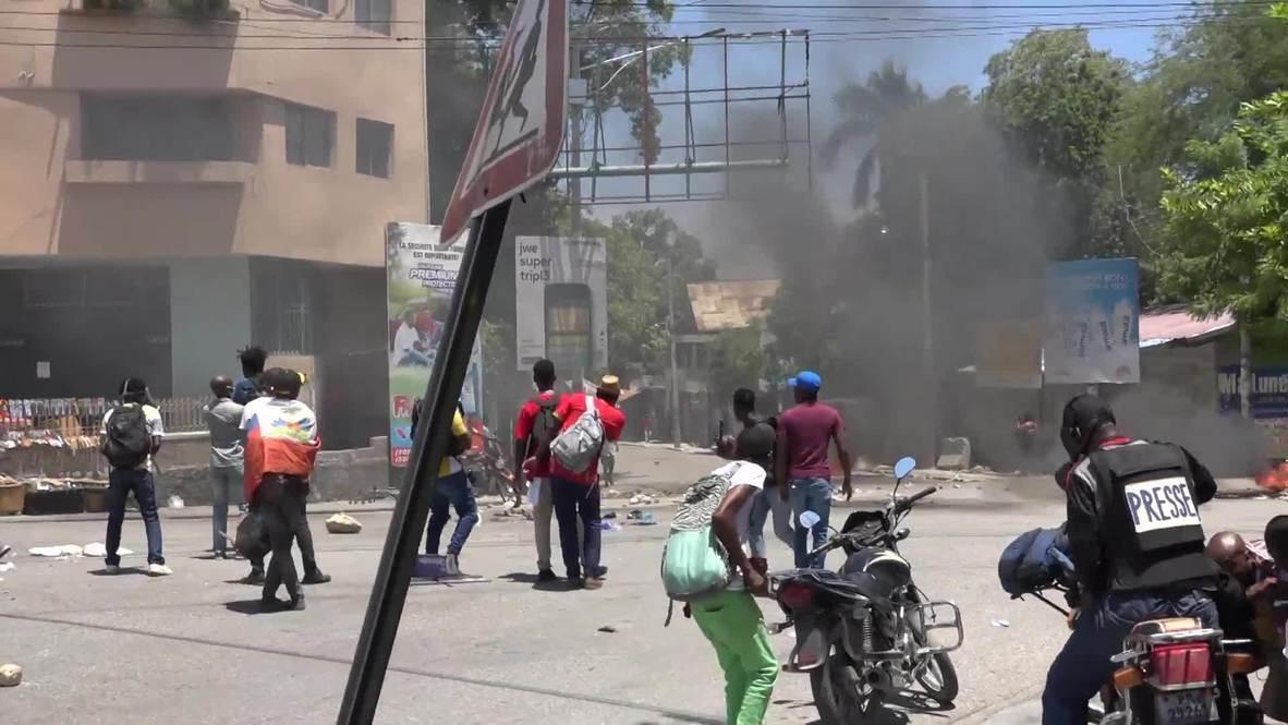 هايتي: اشتباكات بين المتظاهرين والشرطة في احتجاج على تزايد معدل الجريمة في بورت أو برنس