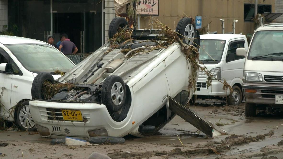 Japón: Residentes de Hitoyoshi se enfrentan a las secuelas de las inundaciones