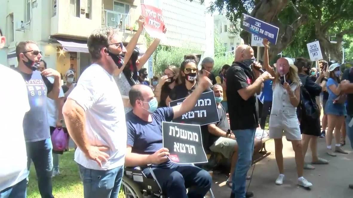 Israel: Propietarios de pequeños negocios protestan por las nuevas restricciones por covid-19