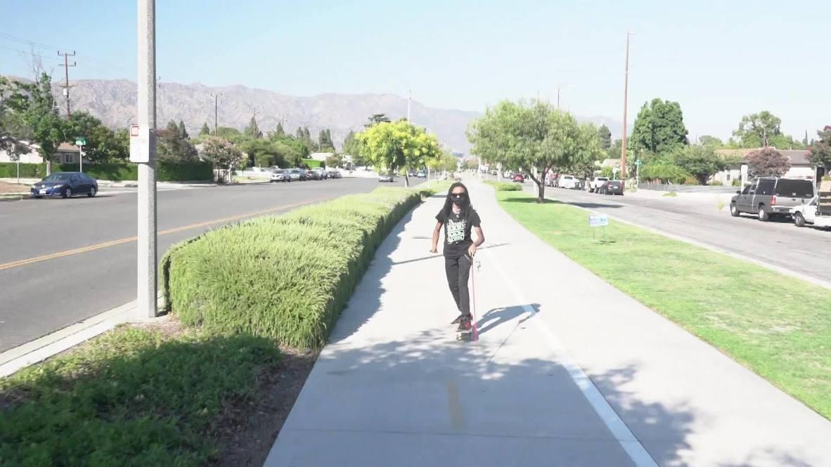 EE.UU.: Joven ciego impresiona con sus habilidades en el skateboarding