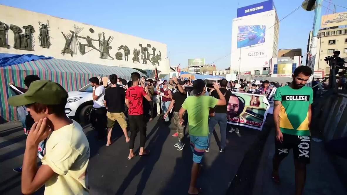Iraq: Hundreds in Baghdad protest killing of Hisham al-Hashemi