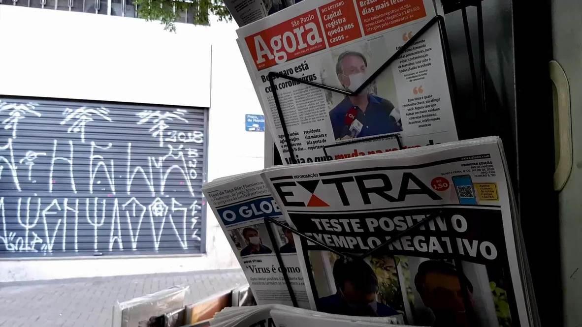 """البرازيليون حول إصابة رئيسهم بفيروس كورونا: """"لقد حصد ما زرع...يستحق ذلك"""""""