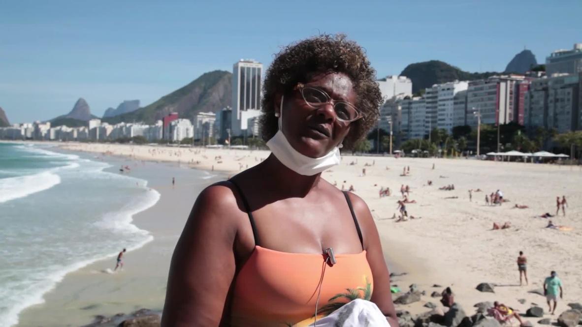 Brasil: Residentes de Río reaccionan ante el contagio por coronavirus del presidente Bolsonaro