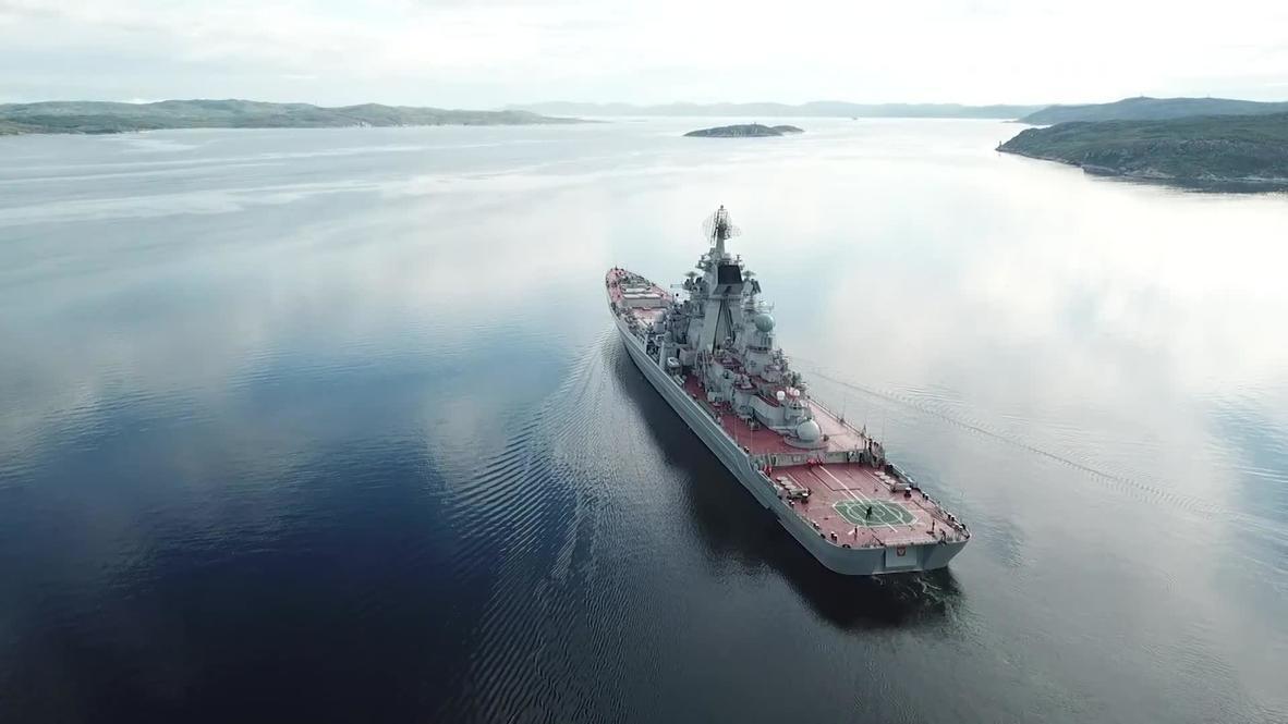 Россия: В Баренцевом море проходит сбор-поход Северного флота
