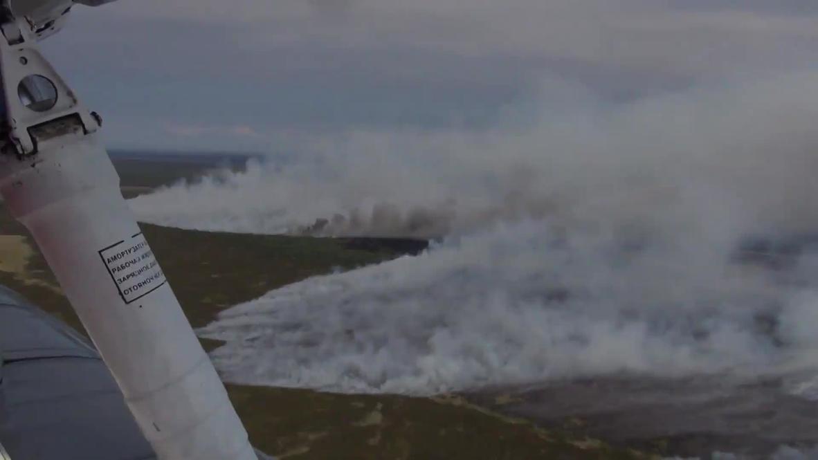 Россия: Площадь труднодоступных пожаров в Сибири снизилась почти в два раза