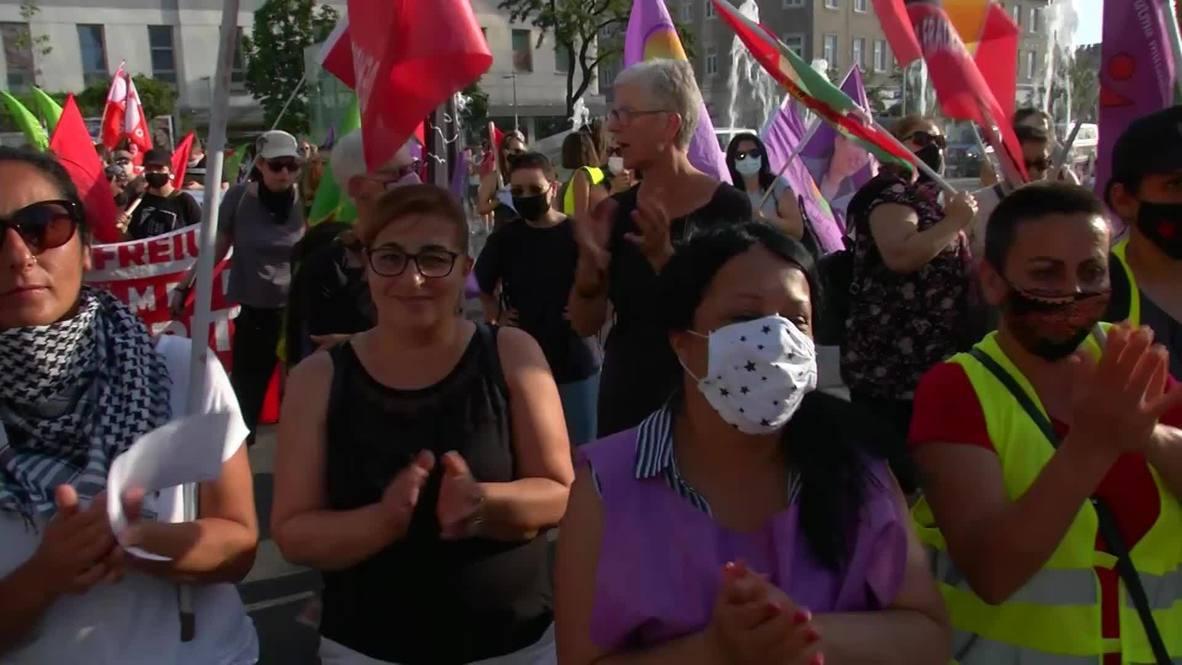النمسا: الأكراد والجماعات النسائية ينظمون مسيرة سلمية في فيينا