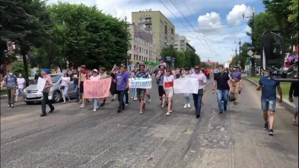 Россия: В Хабаровске вновь прошел несанкционированный митинг в поддержку Сергея Фургала