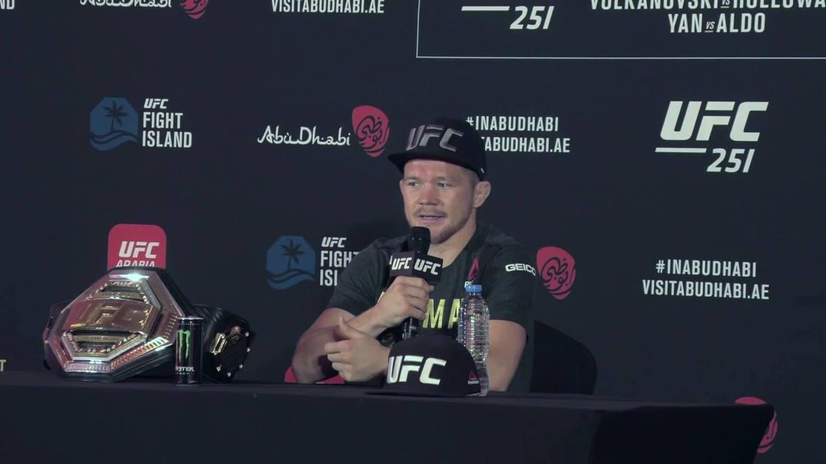 """ОАЭ: """"Это был бой с мощным соперником"""" – чемпион UFC Петр Ян о победе над Жозе Алдо"""
