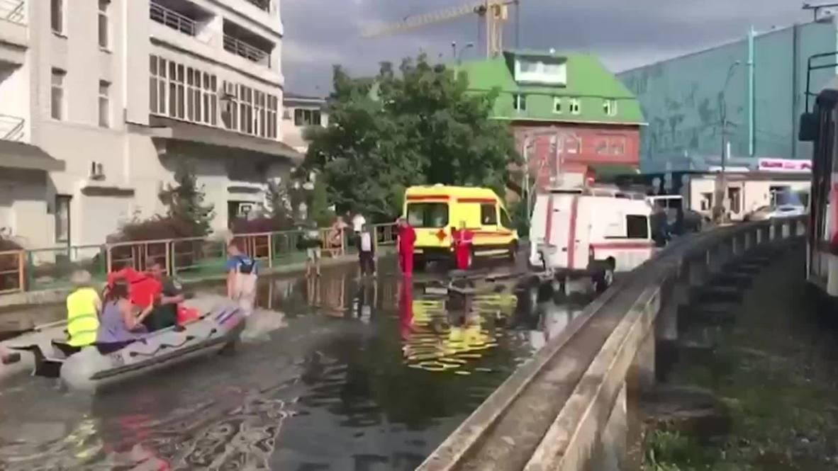 Россия: Краснодарский край затопило после проливных дождей