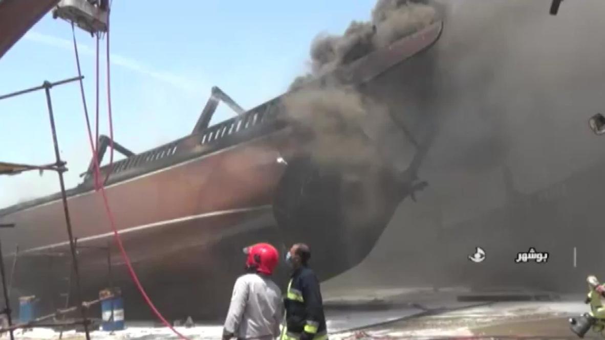 Irán: Se declara un incendio en los astilleros de Bushehr