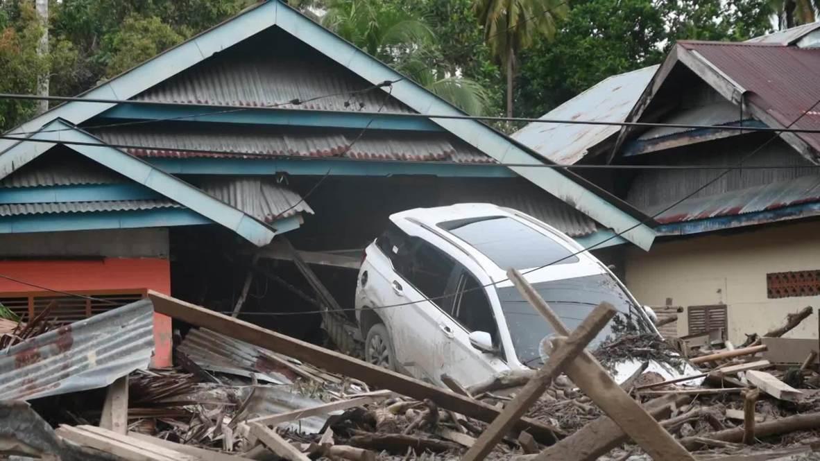 Indonesia: Inundaciones dejan al menos 21 muertos y un rastro de destrucción