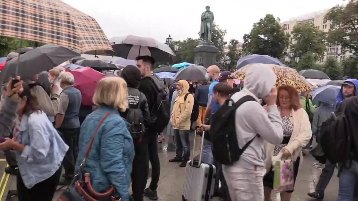 Россия: В Москве на несанкционированной акции против принятия поправок к Конституции прошли задержания