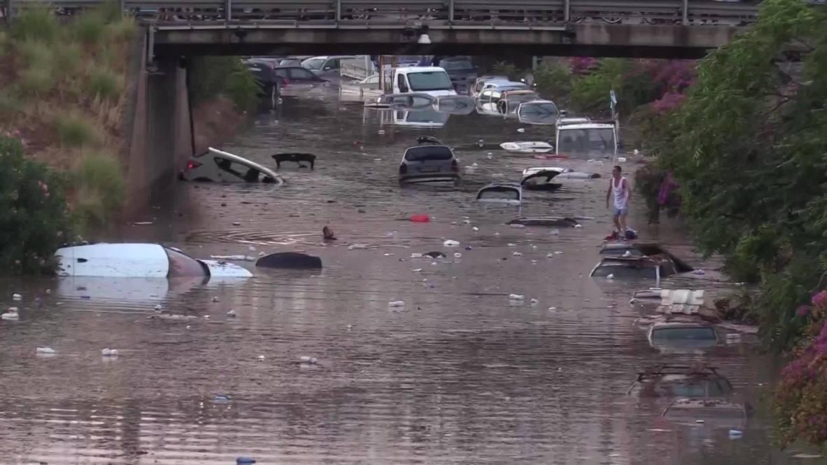 Italia: Devastadora inundación en Palermo deja al menos dos muertos