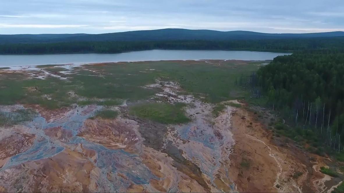 Russia: Prosecutors open pollution probe after streams in Urals run orange