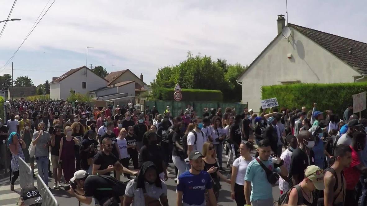 France: Thousands demand justice for Adama Traore on his death anniv. near Paris