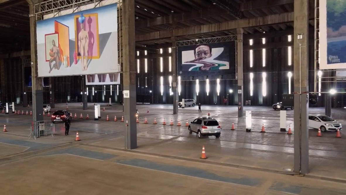 Brazil: Sao Paulo warehouse hosts drive-thru art exhibition