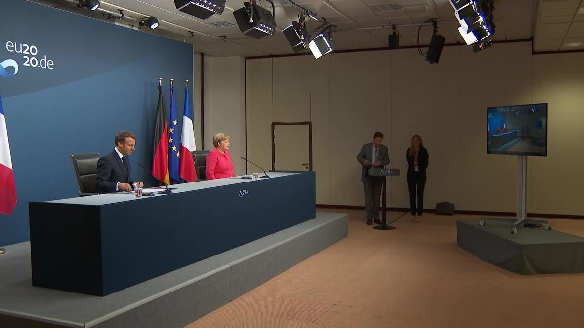 Bélgica: Merkel y Macron anuncian plan de reconstrucción del coronavirus tras una cumbre de 4 días