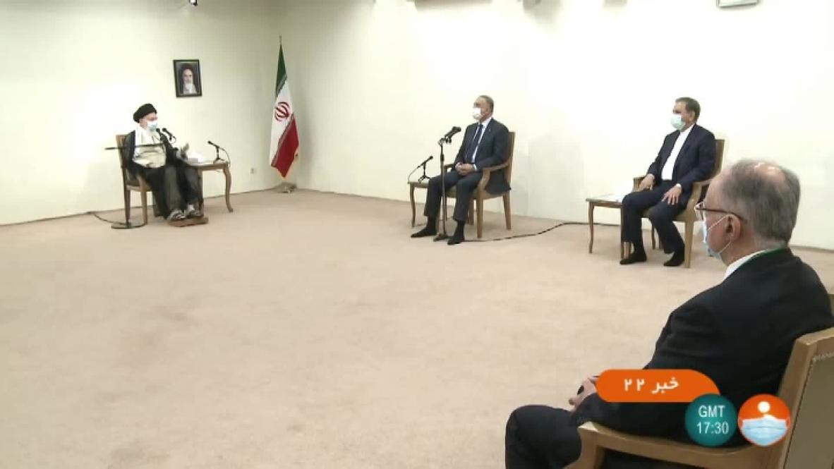 Iran: Khamenei meets Iraqi PM al-Kadhimi to talk US presence in Iraq