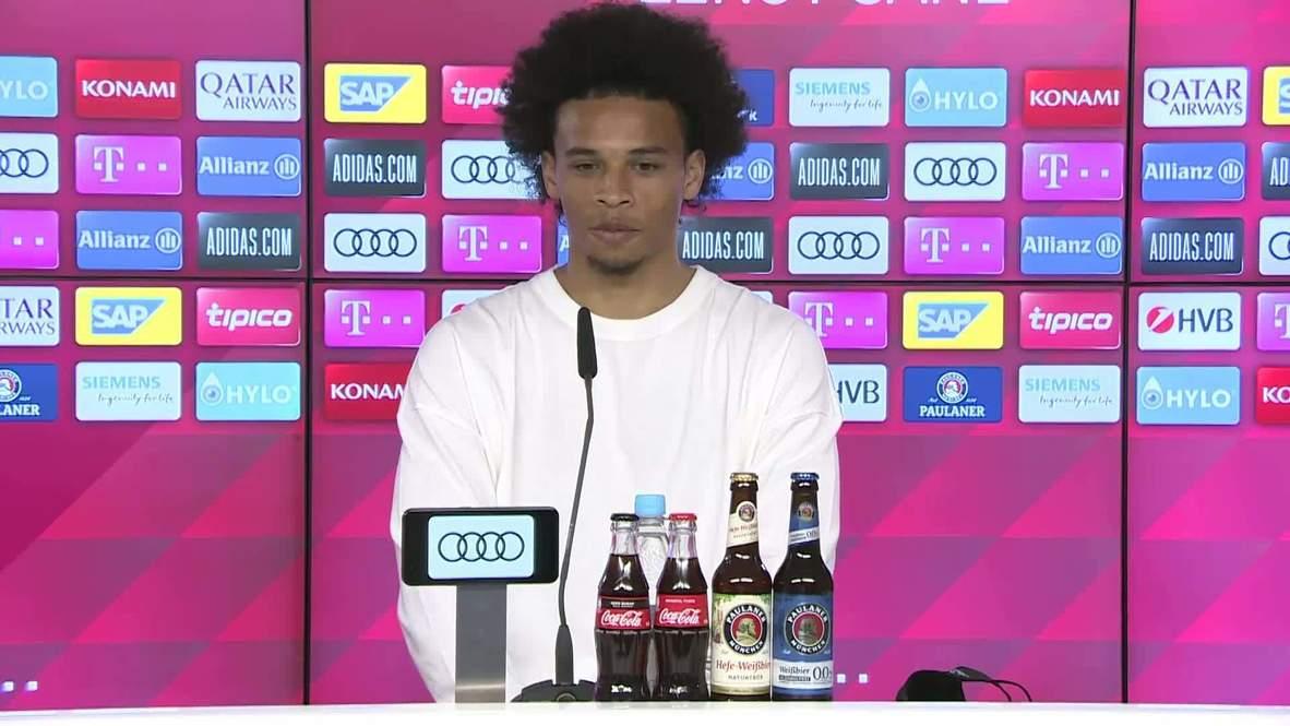 """ألمانيا: المتعاقد الجديد مع بايرن ميونيخ ليروي ساني يقول إنه """"لن يعاني"""" إذا فاز مانشستر سيتي بدوري الأبطال"""