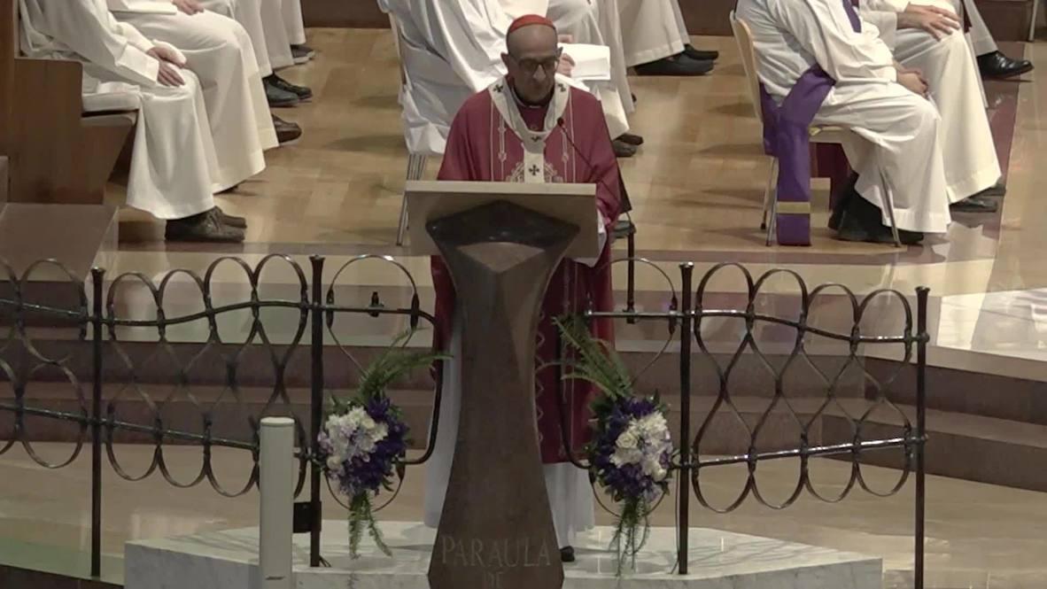 Spain: Archbishop of Barcelona holds mass commemorating COVID-19 victims at Sagrada Familia