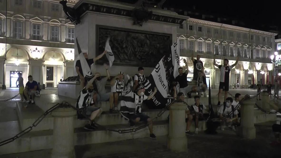 Italy: Juventus fans celebrate 9th consecutive Serie A title win over Sampdoria