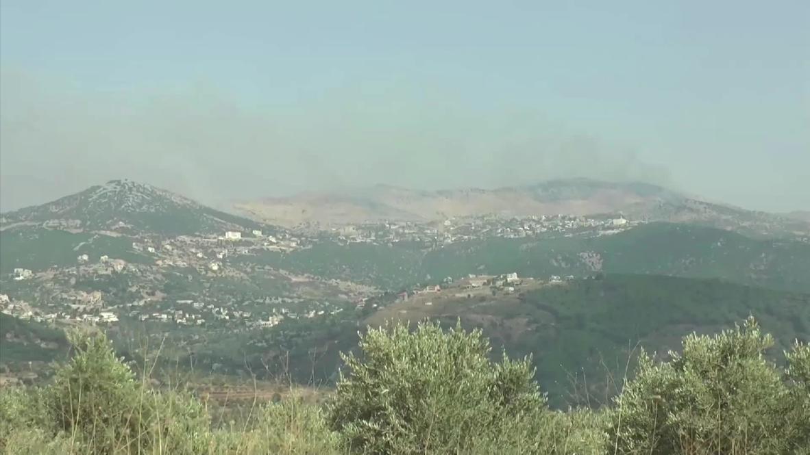 لبنان: تصاعد الدخان من منطقة الحدود مع إسرائيل عقب التوتر الأمني بين الجانبين