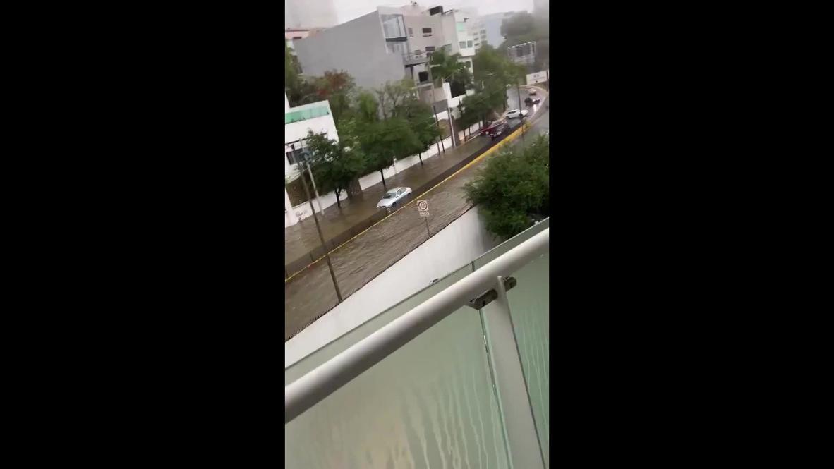 Mexico: Tropical storm Hanna floods Monterrey streets