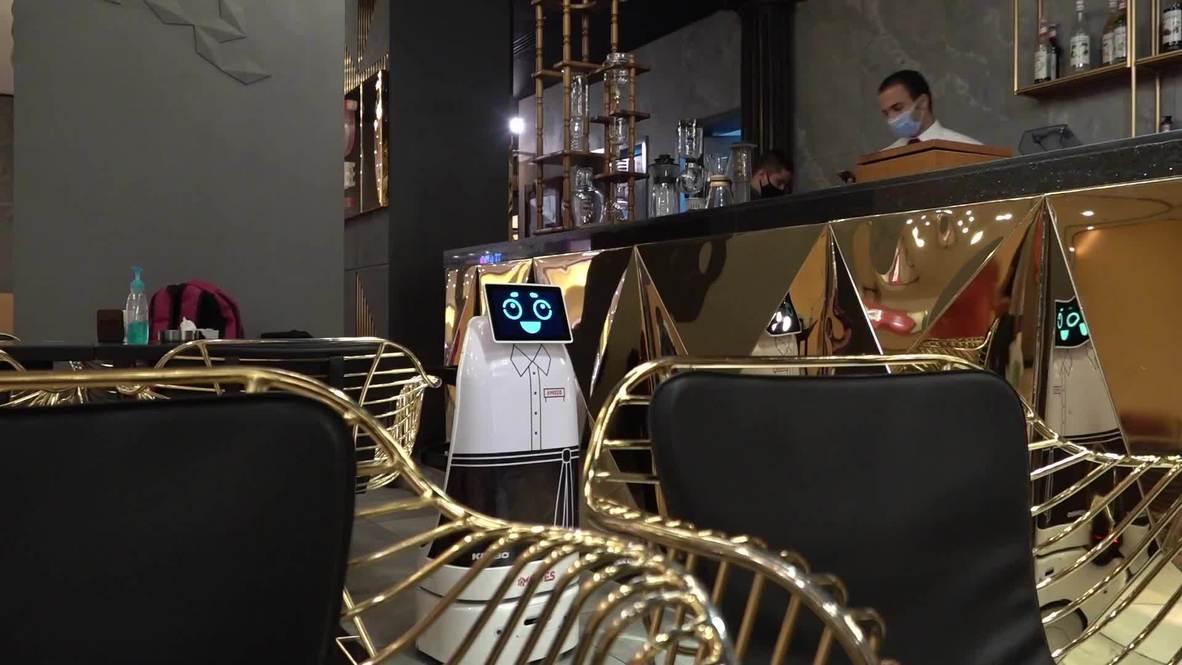 Egyptian restaurant hires adorable robot waiter to ease social distancing