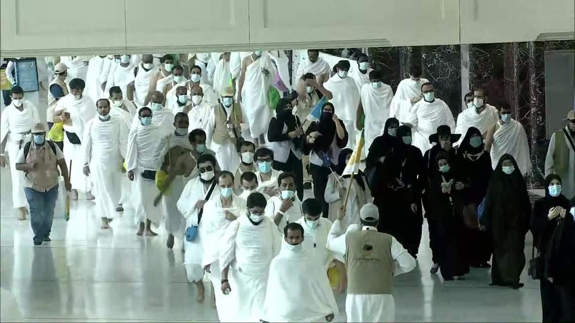 Arabia Saudí: Peregrinos llegan a la Gran Mezquita de La Meca con restricciones por la covid-19