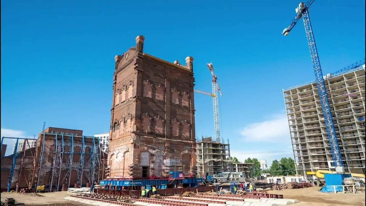 С уважением к возрасту. Старинную башню передвинули в Москве ради ее сохранения