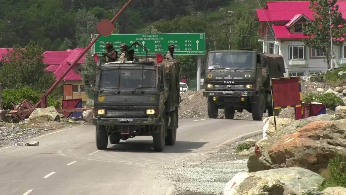 India: Nueva Delhi despliega tropas adicionales en la zona fronteriza con China cerca del Himalaya