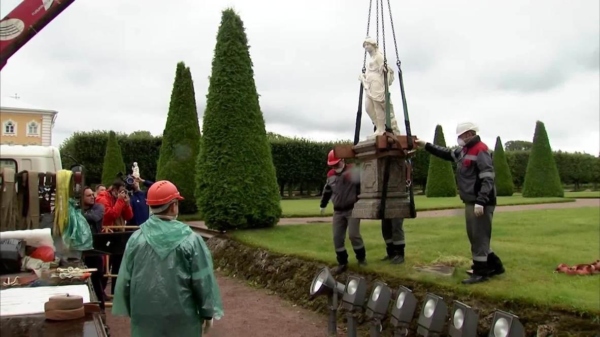 Россия: Верхний сад Петергофа закрыли на реставрацию до 2024 года