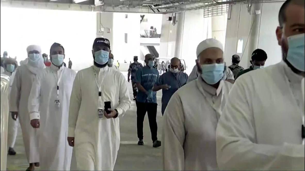 المملكة العربية السعودية: مكة المكرمة تشهد اليوم الثالث من شعائر الحج وسط تقليص أعداد الحجاج